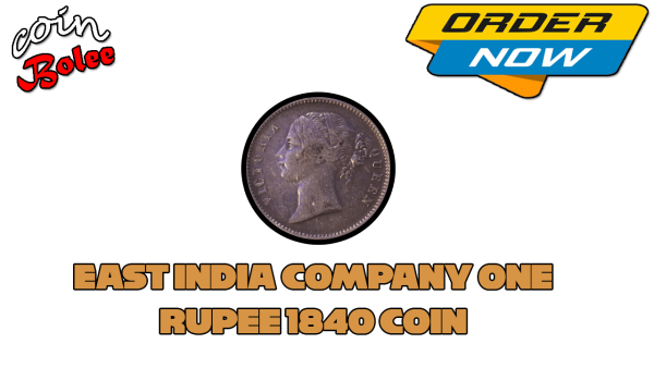 East India Company One Rupee 1840 Silver Coin Front