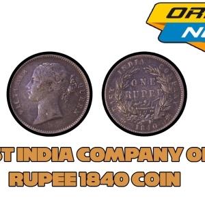 East India Company One Rupee 1840 Silver Coin