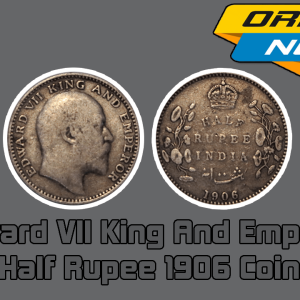 Edward VII King And Emperor Half Rupee 1906 India Silver Coin