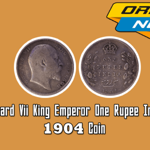 Edward VII King Emperor One Rupee 1904 India Silver Coin