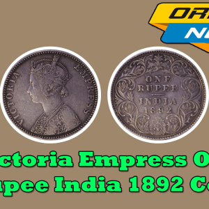 Victoria Empress Silver One Rupee 1892 British India Coin