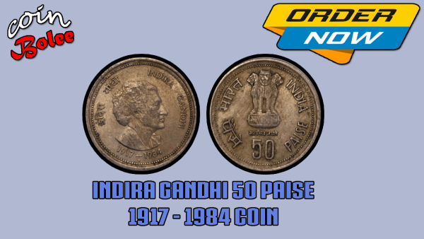 Indira Ganghi 1917 To 1984 India 50 Paise