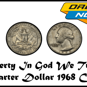 Liberty In God We Trust Quarter Dollar 1968 United States Coin