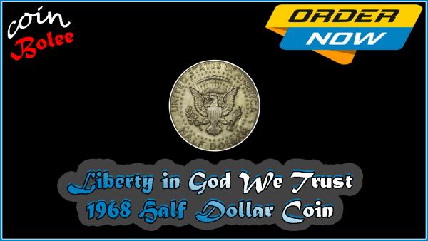 1968 Kennedy Silver Half Dollar Coin