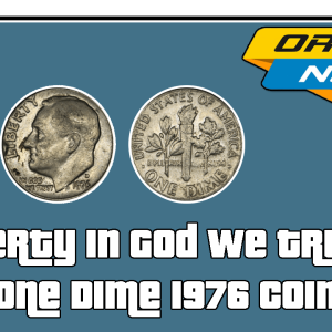 Liberty In God We Trust One Dime 1976 Coin