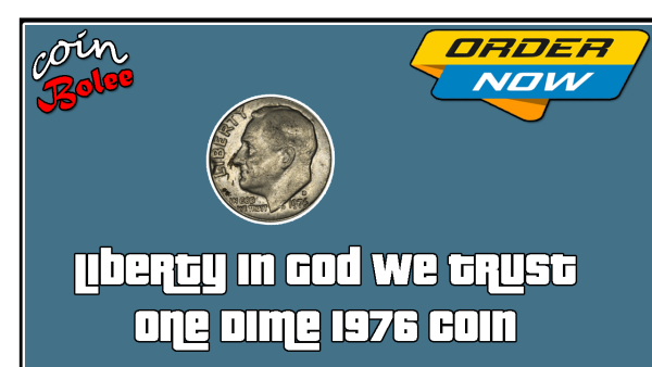 Liberty In God We Trust One Dime 1976 Coin Front
