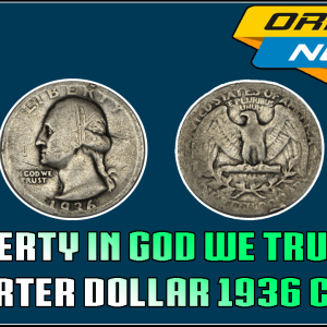 Liberty in God We Trust Silver Quarter Dollar 1936 Coin