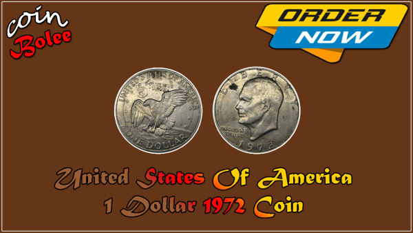 United States Of America 1 Dollar 1972 Coin