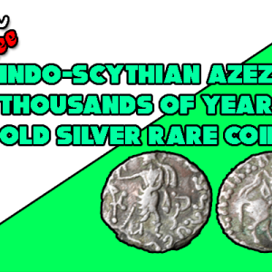 Indo-Scythian Azes 2000+ Years Silver Coin