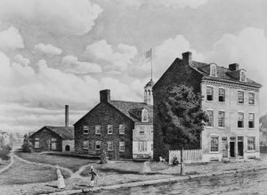 The first United States Mint, on Seventh Street, Philadelphia, circa 1820. Credit: Archive Photos/Archive Photos/Getty Images