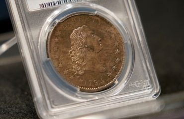 The rare 1794 US silver dollar