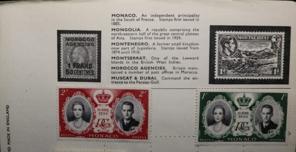 MONACO 19 AVRIL 1956 and1952 Postes