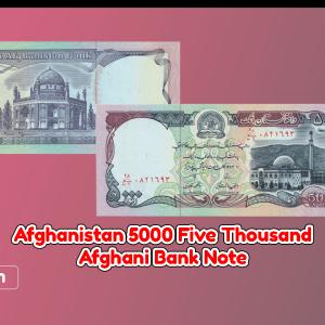 Afghanistan 5000 Afghanis 1372 (1993)