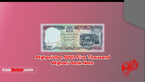Afghanistan 5000 Afghanis 1372 (1993) Front